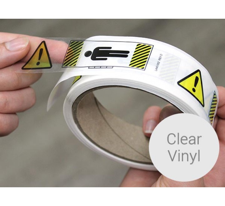Custom Clear Vinyl Roll Stickers