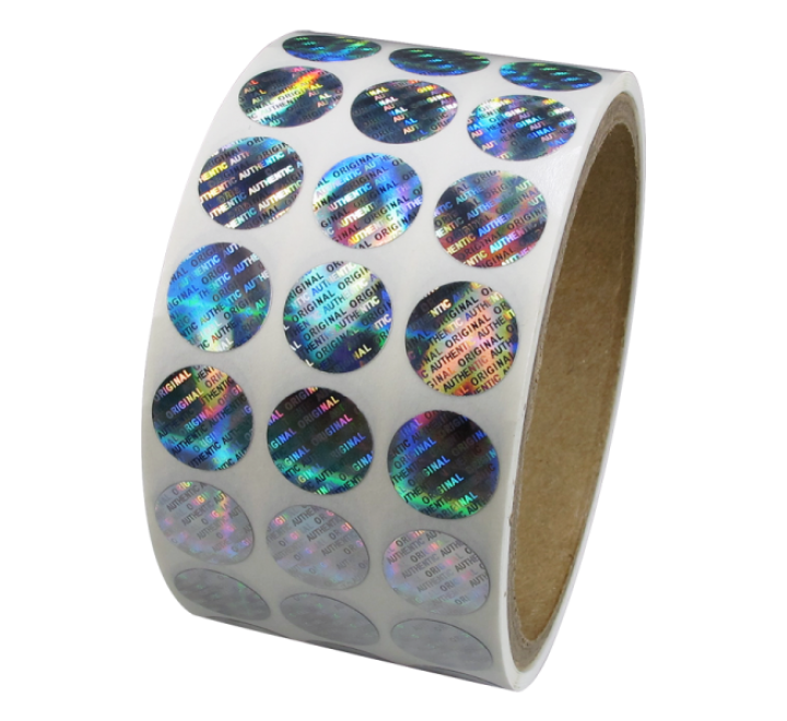 Custom Hologram Roll Stickers