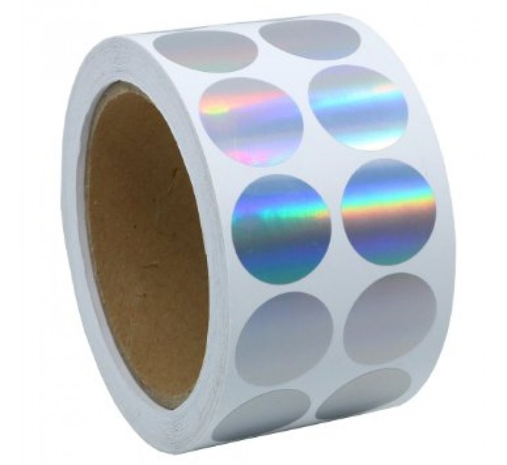Round Hologram Roll Stickers