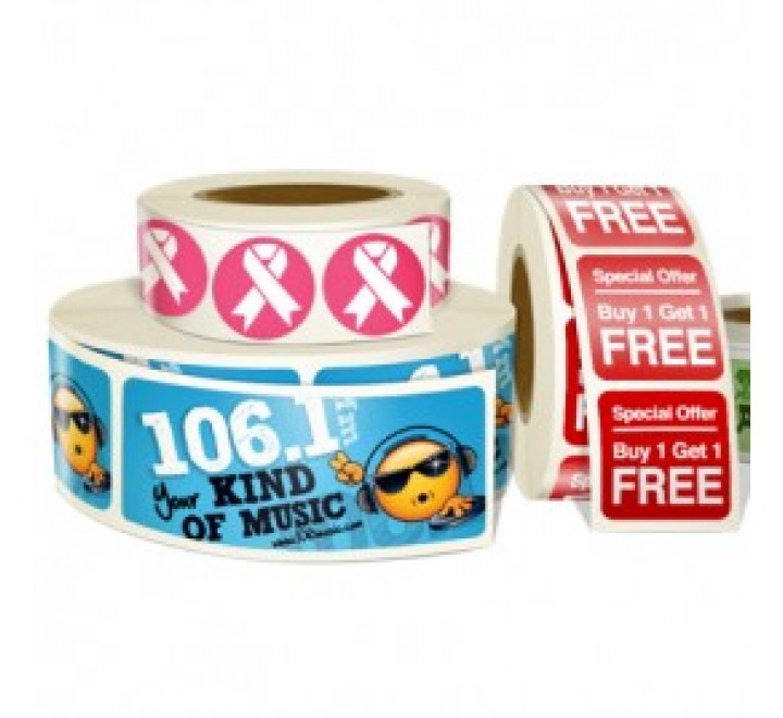 Rectangular Band Roll Stickers