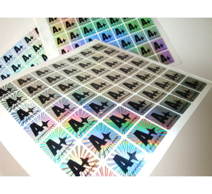 Rectangular Hologram Roll Stickers