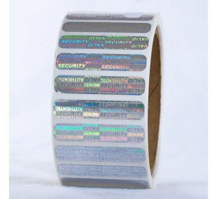 Rectangular Metallic Roll Stickers