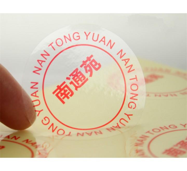Round Clear Vinyl Roll Stickers
