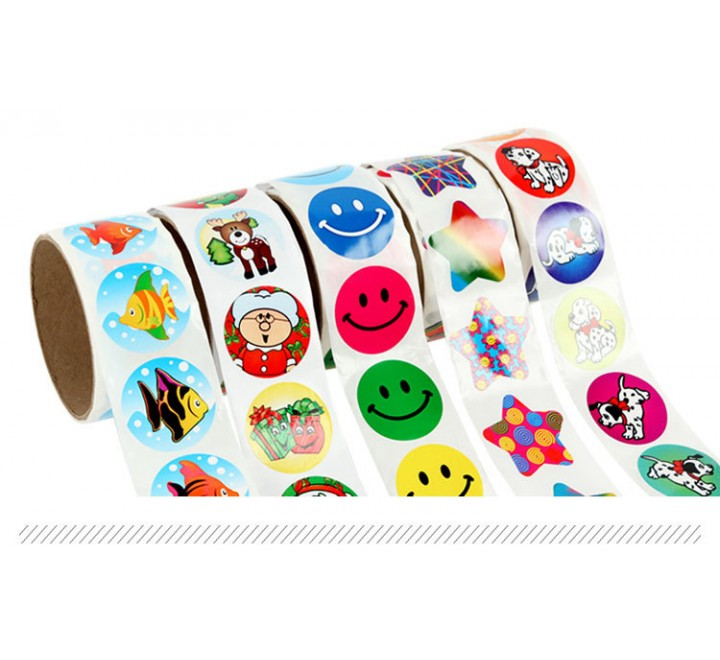 Round Roll Stickers