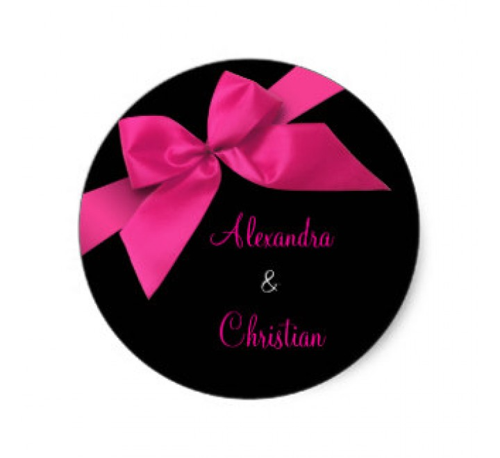 Round Wedding Roll Stickers
