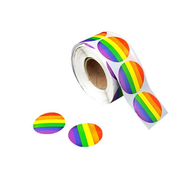 Round White Vinyl Roll Stickers