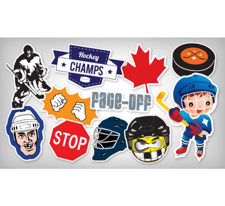 Square Helmet Roll Stickers