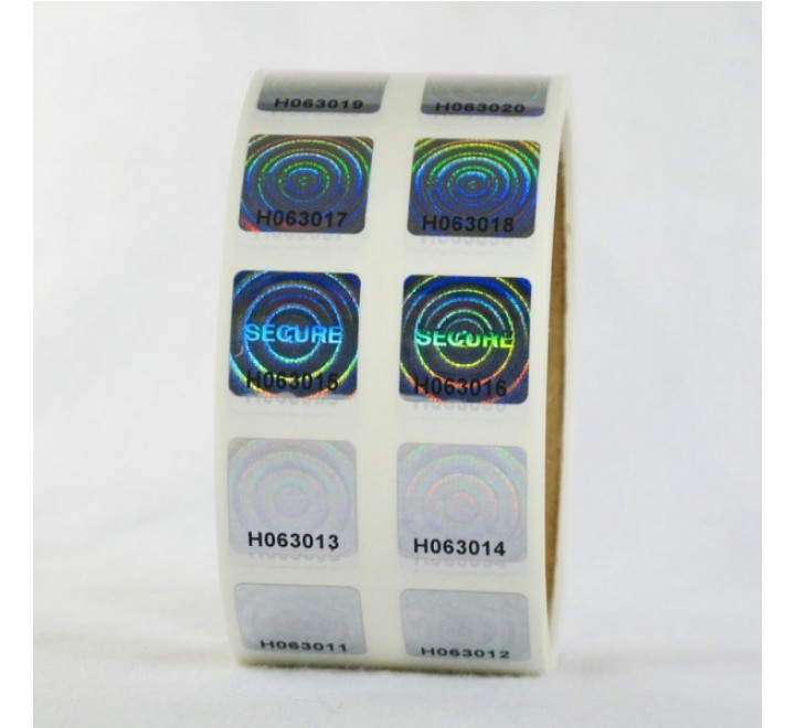Square Hologram Roll Stickers