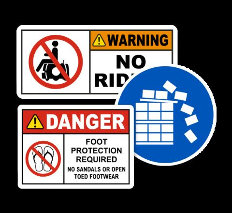 Custom funny warning labels