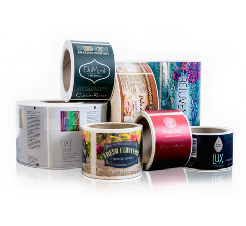 Custom Packaging Roll Stickers