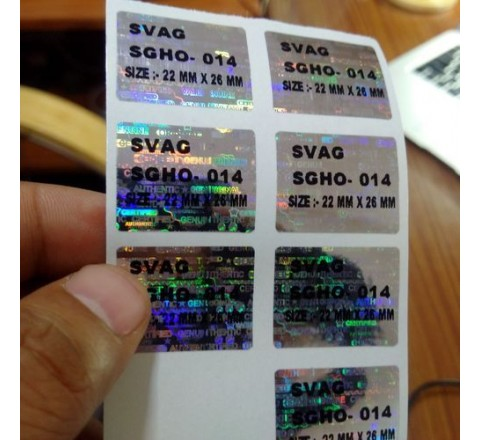 Die Cut 3D Hologram Stickers