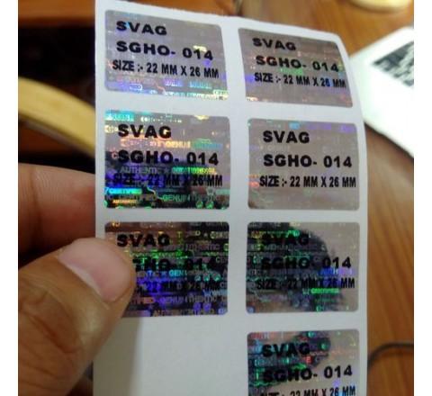 Die Cut 3D Hologram Stickers