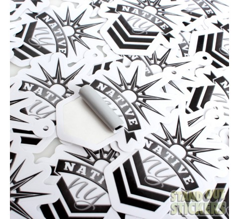 Die Cut Logo Roll Stickers