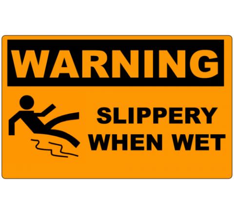 Rectangular warning stickers