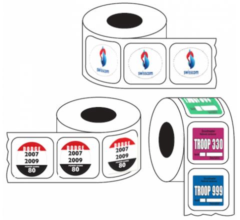 Rectangular Auto roll stickers
