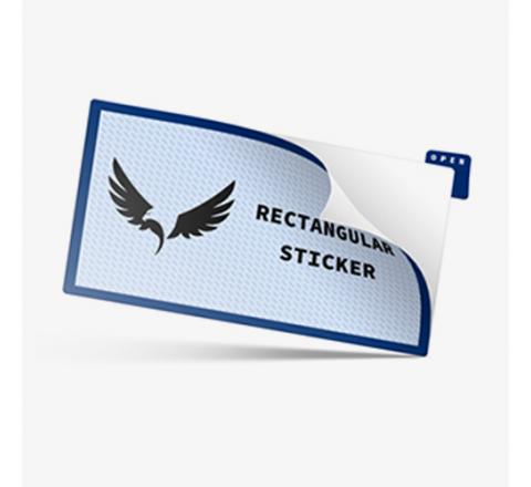 Rectangular Business Logo Stickers