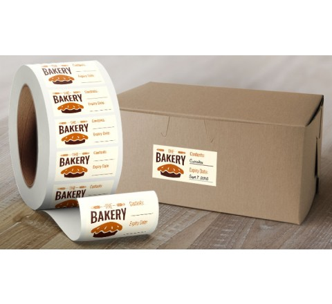 Rectangular Labels Roll Stickers
