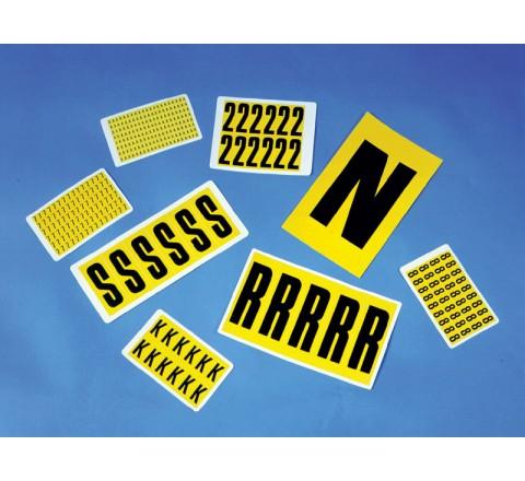 Rectangular Truck Roll Stickers