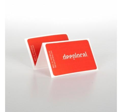 Rectangular White Vinyl Stickers