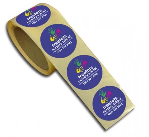 Round Decals Roll Sticker