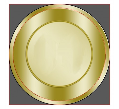Round Gold Labels