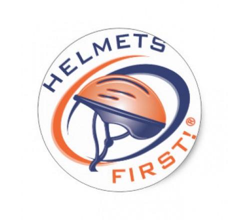 Round Helmet Roll Stickers