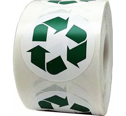 Round Logo Roll Stickers