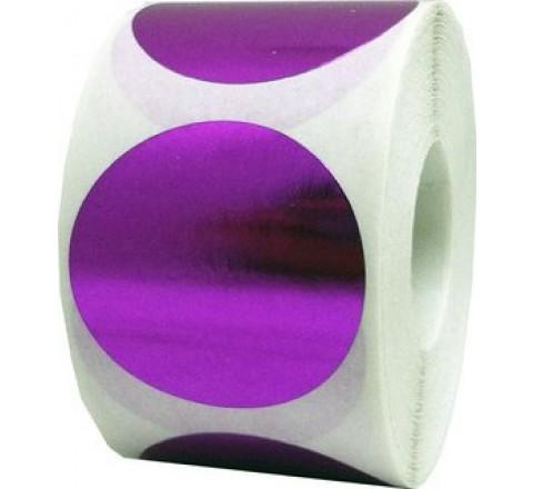 Round Metallic Roll Stickers