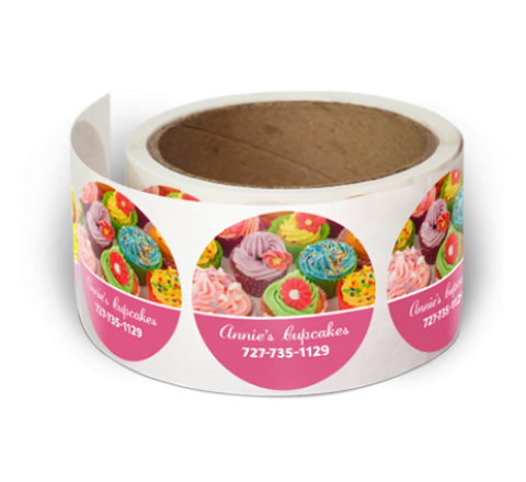 Round Packaging Roll Stickers