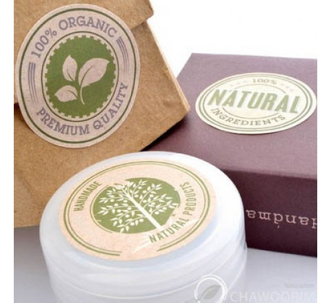 Round packaging stickers